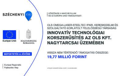 Innovatív technológiai korszerűsítés az OLS Kft. nagytarcsai üzemében
